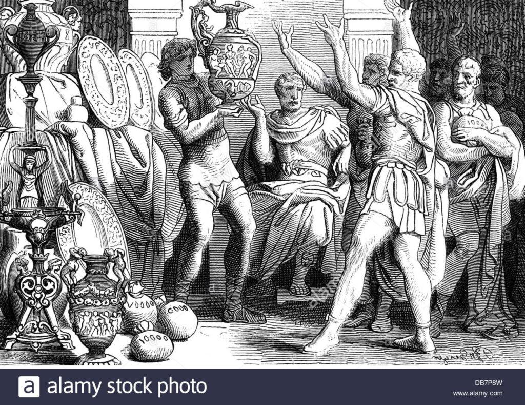 Subastas judiciales en la antigua roma